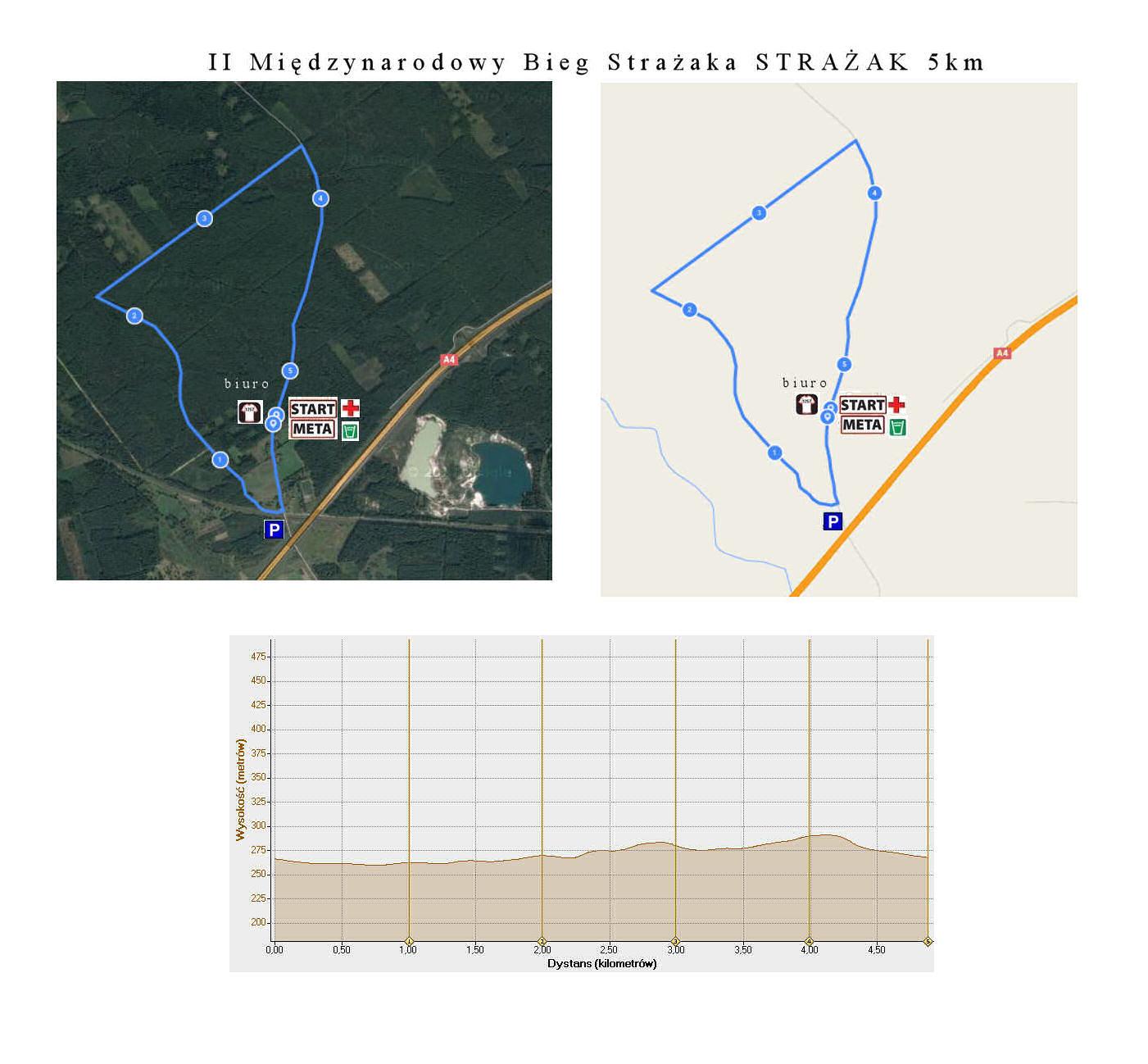 mapa z profilem 5km